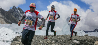 Pacing to take the lead at Everest Marathon 2017.